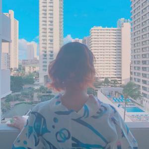 ハワイで浴衣