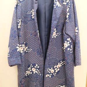 絞りの小紋からコート 着物リメイク