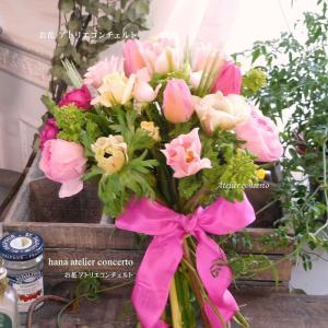 生花ブーケ♪クッラチブーケ♪花束♪春爛漫♪春のお花♪アトリエコンチェルト♪