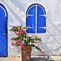 フレンチ 花柄のシックでかわいい玄関マット