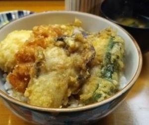 念願の牡蠣天丼☆六本木味覚