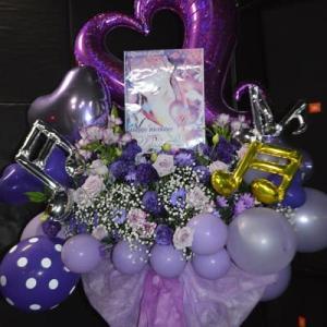川越市ライブハウス 音符のスタンド花