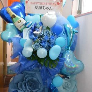 久喜市ガールズバー お誕生日のスタンド花
