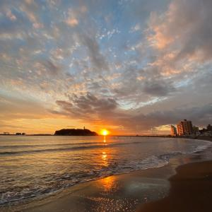 美しかった江ノ島の夕空