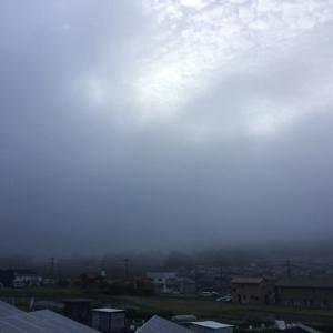 霧の東広島の朝でございます。