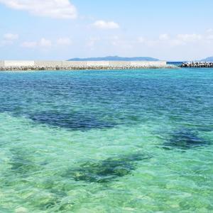 竹富島東港プラスワンの綺麗な海