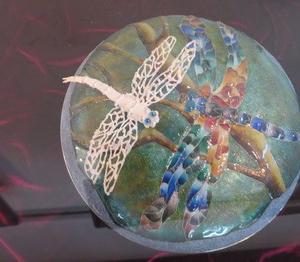 堺市の珍しい手工芸教室。教室展の生徒さんの作品です