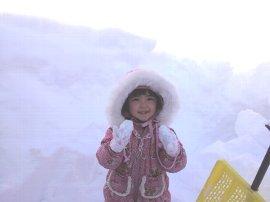今年のどか雪とおひなさま♪