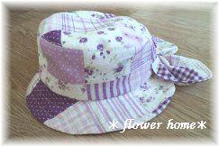 姫ちゃんのラベンダー色の2way帽子作ったよ♪