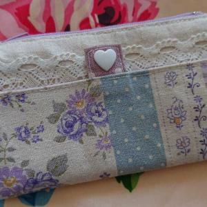 むらさき色のバラキーケース&お財布を作りました~♪