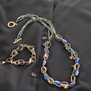 「Bleu foncé」「Noir」ネックレス&ブレスレット