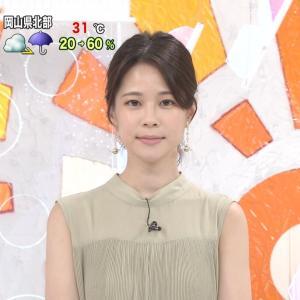 鈴木唯アナのワキが綺麗すぎるwwめざましテレビで美脇を2回も披露!