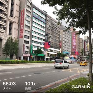 走れていません。台北にて