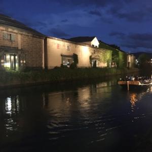 エクスブログ最終回!ライブドアブログへ/夜の小樽運河 (*´ω`*) イイ感じ 船も