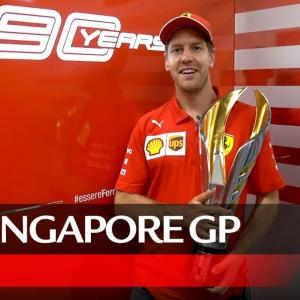【2019F1シンガポールGP】ベッテルが驚異の1周で今季初優勝!ビデオメッセージ&感動の瞬間を振り返る