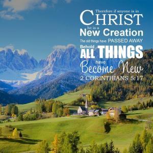 2コリント5:17 すべてが新しく
