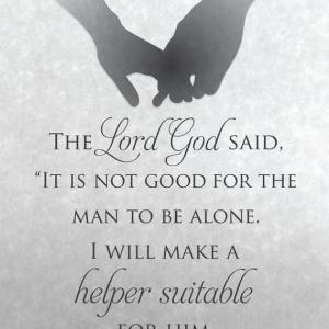 創世記2:18 彼にふさわしい助け手