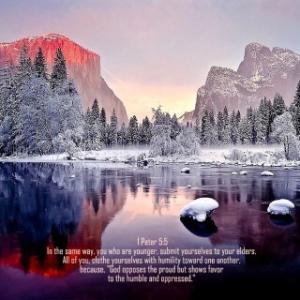 ペテロの手紙 第一 5章5節  謙遜を身に着けなさい