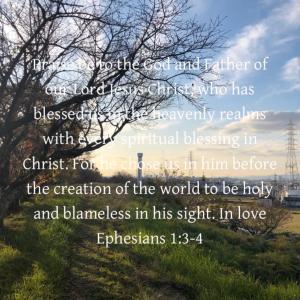 エペソ人への手紙 1章4~5節 主に選ばれた者