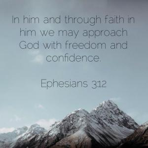 エペソ人への手紙 3章12節 大胆に近づく