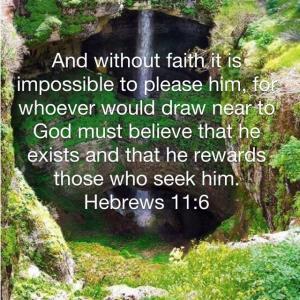 ヘブル人への手紙 11章6節  信仰がなくては