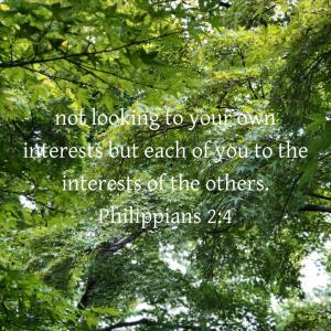 ピリピ人への手紙 2章4節  自分のことだけではなく他の人のことも顧みなさい