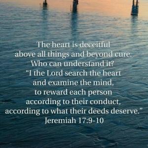 エレミヤ書 17章9~10節  人の心は何よりも陰険