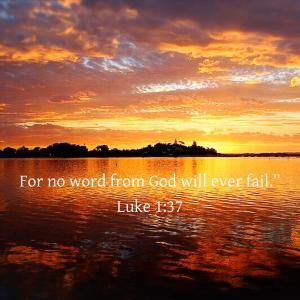 ルカの福音書 1章37節  不可能なことは一つもありません