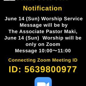 June 14 (Sun) AMI JAPAN Worship Service