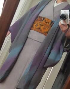 長着から長羽織着用お出かけ&「絹と木綿」展