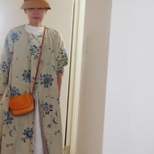 更紗着物でリメイクコートドレス完成・着用~なるほど