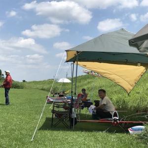 テント張りました。
