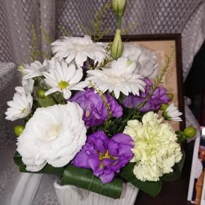 お花に囲まれて、お花ってやっぱり癒されますね