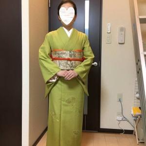 令和元年10月13日の出張着付1件目は堺市北区、結婚式に行かれる色無地の着付&ヘアセット