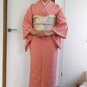 令和元年11月17日出張着付は堺市南区、色無地の着付&ヘアセットのご依頼でした