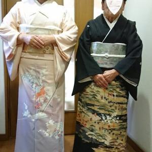 令和元年12月22日  堺市美原区のH様、留袖と訪問着の着付依頼でした。