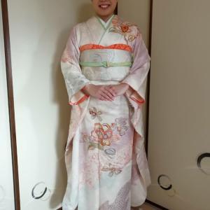 2020.1.3出張着付は大阪狭山市、初詣の振袖の着付け依頼でした。