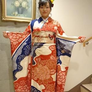 令和2年1月13日 木青会館の成人式イベントの振袖着付  祐村・Hさんの担当分です