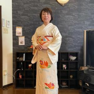 令和2年1月19日出張着付は堺市中区、付け下げの着付け依頼でした。