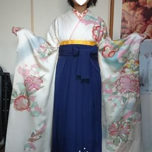 令和2年3月23日出張着付け1・2件目は富田林市と大阪狭山市、卒業式の女袴の着付依頼でした。