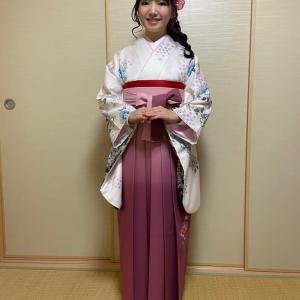 令和2年3月24日出張着付2件目は富田林市、女袴の着付&ヘアセットの依頼でした。