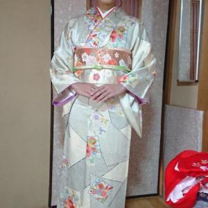 令和2年3月25日出張着付は堺市美原区、小物の着付け依頼でした。