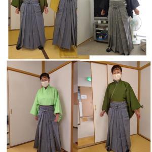 令和3年成人式の為の紋付き袴の講習会、タオル補正とアイテム(アメリカピンを1個から3個)に変更