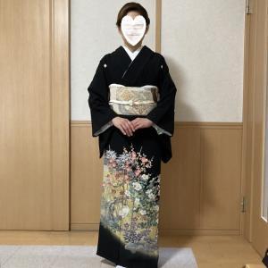 令和2年10月11日出張着付は堺市美原区、結婚式前撮りの留袖&ヘアセットのご依頼でした。