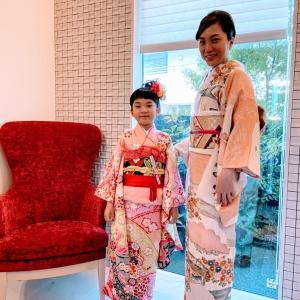 令和2年10月25日出張着付は堺市北区、四つ身と訪問着の着付&ヘアセットのご依頼でした