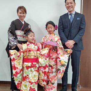 令和2年12月1日出張着付は堺市北区、訪問着と6才・9才のお嬢さまの着付&ヘアセットのご依頼でした。