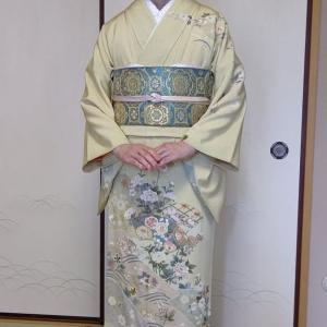 令和3年5月15日出張着付は富田林市、訪問着の着付&ヘアアセット・メイクと男物の大島紬の着付依頼でした。