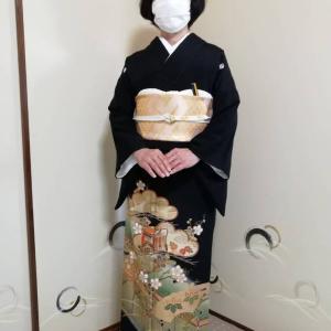 令和3年7月22日出張着付は大阪狭山市、留袖の着付け依頼でした。
