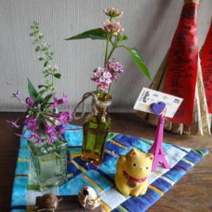 お花の額の下絵を写す(p_-)