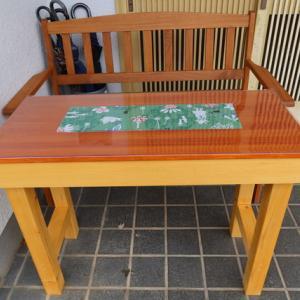 DIYテーブル完成